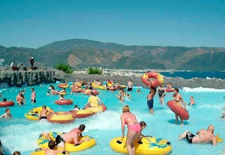 Розваги в аквапарку у Мармарисі, Туреччина